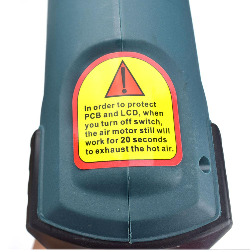 Купить Интеллектуальное Управление 2000 Вт 220 В ЕС Plug Промышленная Термофен Термоусадочная Электрический Горячего Воздуха Сопла Терморегулятор ЖК-Дисплей нагреватель дешево