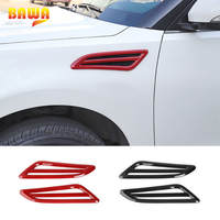 HANGUP Car Exterior Side Body Front Wheel Fender Wing Air Vent Outlet Panel Dedecoration For Nissan Patrol 2017 UP Car Styling