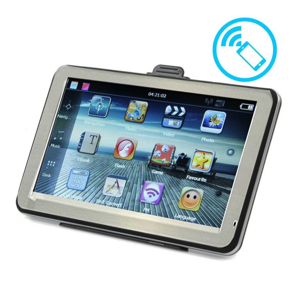 Newest 4 3 Inch 8GB ROM 256M RAM Resistive Touch Screen font b GPS b font