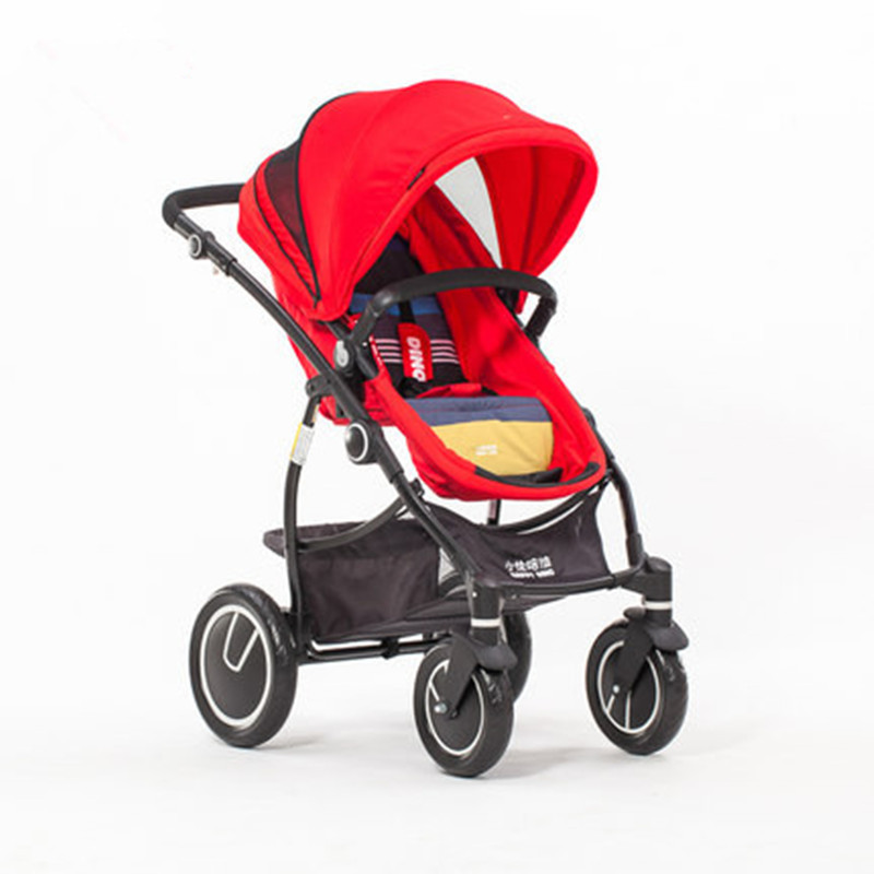 Newborn high landscape baby stroller can sit and recline two-way push cart baby carriage foofoo baby stroller high landscape can be sitting can belying babystrollers folded two way portable baby carriage