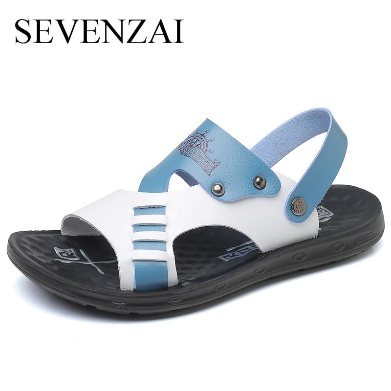 Summer Men Sandals 2018 Outdoor Sandals Men Fashion slide designer Slippers Men Breathable Summer Shoes Buckle Beach Shoes