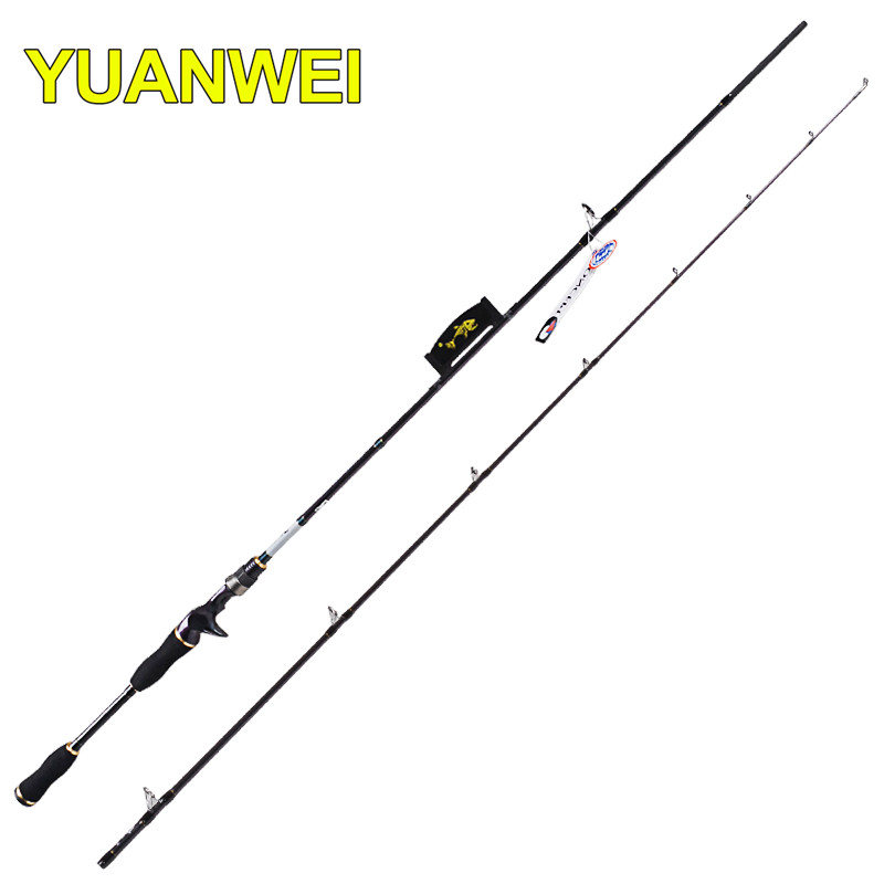 YUWEI Fishing Rods 1.8m M Lure Weight 6-24g 2Section Varas De Pesca Canne a Peche Baitcsting Spinning Rod Guide new baitcsting fishing rods carbon m ml mh1 8m 2 1m 2 4m varas de pesca fishing pole for carp fish peche