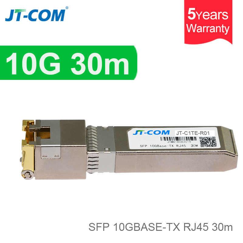 10G RJ45 Copper SFP Transceiver Module 10GBase-Tx Ethernet Gpon Olt Fiber  Optic FTTH Compatible with Cisco/Mikrotik Switch 30m