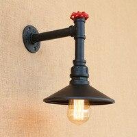Loft Tarzı Demir Su Borusu Lamba Edison Duvar Aplik Yatak Odası Retro Duvar aydınlatma armatürleri Kapalı Vintage Endüstriyel Aydınlatma