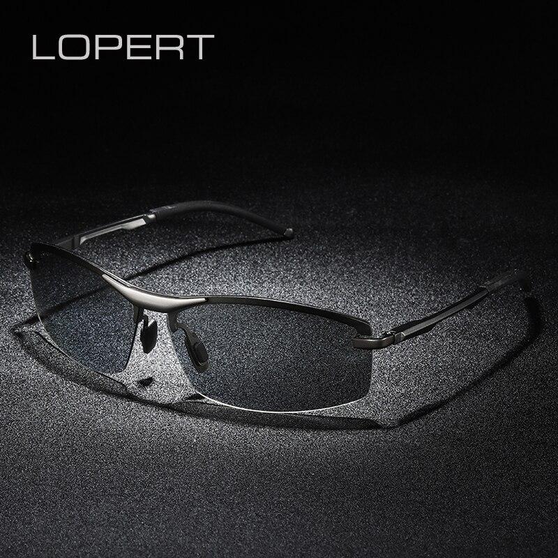 LOPERT All Weather Photochromic Polarized Sunglasses Men Women Brand Designer Driving Fishing Sun Glasses Unisex UV400 in Men 39 s Sunglasses from Apparel Accessories