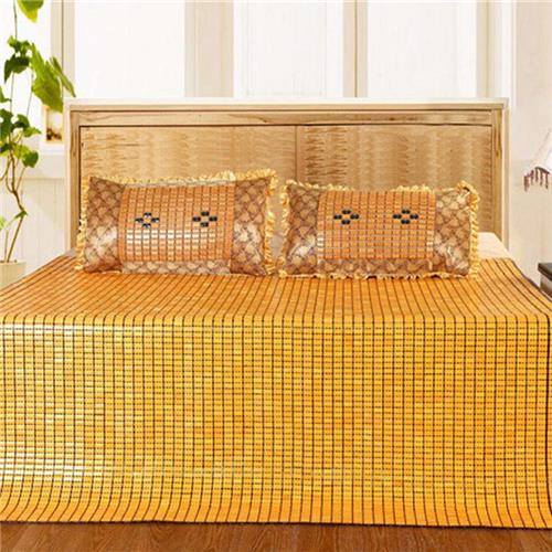 Bamboo Bed Mat Quaint Carbonized Bamboo Summer Sleeping Mat For Double Bed  Summer Sleeping Bed Sheet