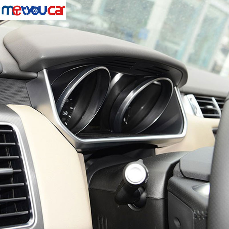 For Land Rover Range Rover Sport 2014-2016 Accessories Car Styling ABS Chrome Car Dashboard U Shape Frame Strip Trim 1pc