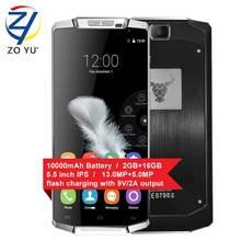 Oukitel K10000 смартфон Android6.0 Зефир 4 г LTE мобильный телефон 2 32gdual сим-карты 5.5HD 2 г + 16 г 13.0MP 10000 мАч сотовый телефон