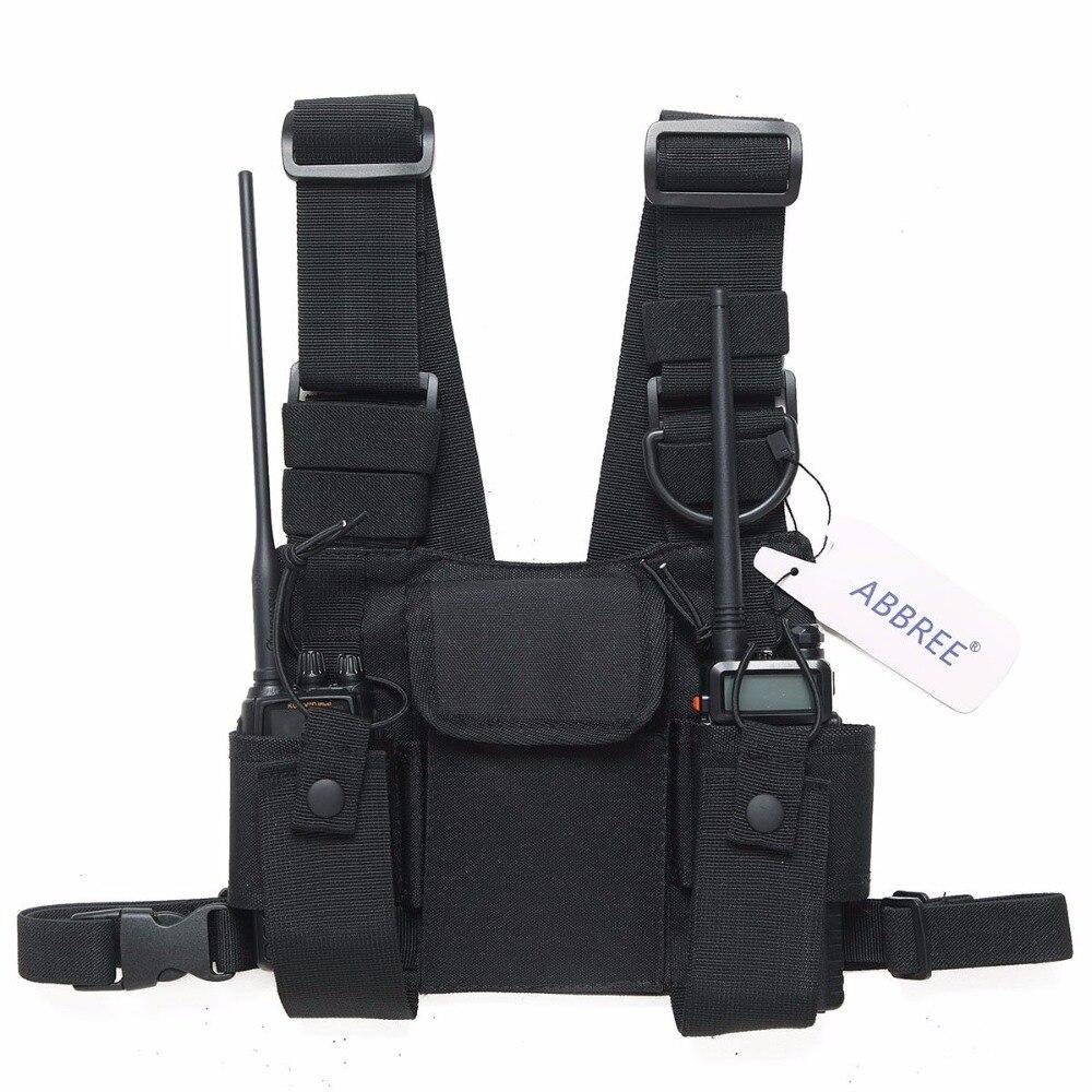 Radio Harnais poitrine Avant Pack Pochette Étui Gilet Rig Carry sac pour Baofeng UV-5R UV-82 UV-9R BF-888S TYT Motorola Talkie walkie