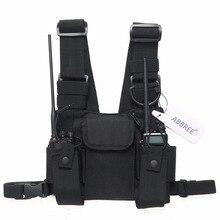 Модуль для установки магнитолы груди передняя сумка мешок разгрузочный жилет Rig сумка для Baofeng UV-5R UV-82 UV-9R BF-888S TYT гарнитура Motorola