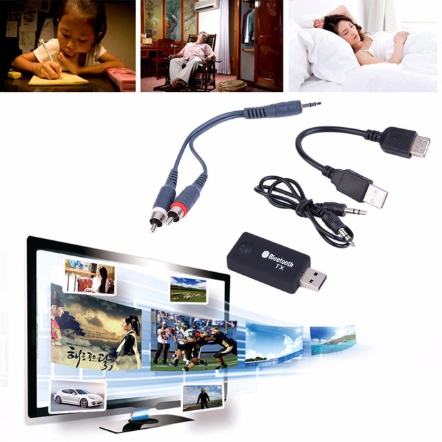 2016 Newest  Bluetooth Wireless Home Stereo Music Audio Transmitter Streaming USB Dongle free shiping