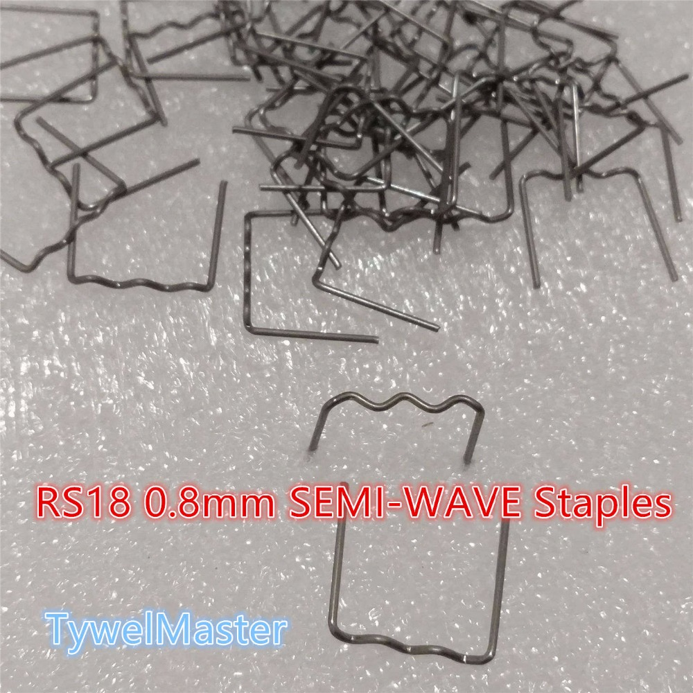 1000pcs Staples For Hot Stapler Plastic Repair Wave Staples Bumper Bodywork Repairs 0.8mm PlateWave Staples 1000pcs Hot Stapler