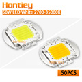 Wholesale 50pcs High Power LED Chip 50W Natural Warm Cold White 2700K-35000K Integration Lamp Spotlight Floodlight Free Shipping