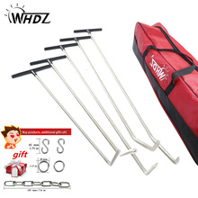 WHDZ paintless dent repair PDR Hook Tools Push Rod Black Car Crowbar Paintless Dent Repair Kits Ding Hail Puller Set