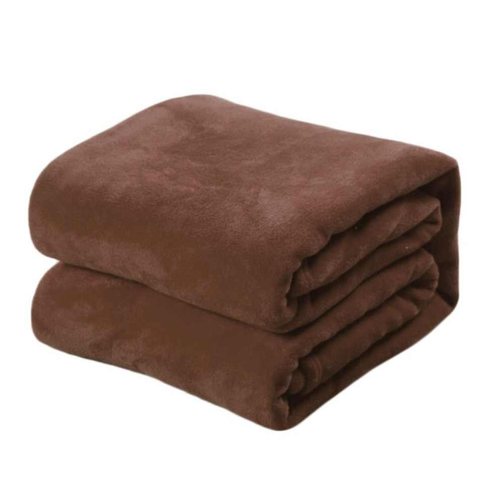 Chất Lượng cao Siêu Mềm Chăn Mền Màu Rắn San Hô Fleece Thoải Mái Ngủ Giường Ngủ Nhà 50x70 cm Giường Sofa dệt Vải Gia Đình