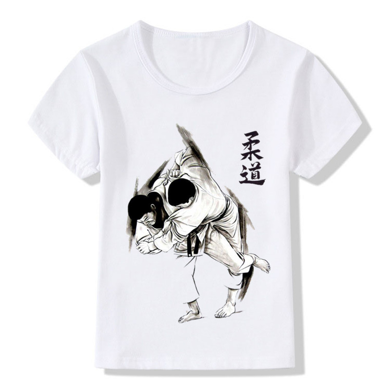 Baby Boys & Girls Evolution Of A Judo T-shirt Sommar Barn Toppar - Barnkläder - Foto 4
