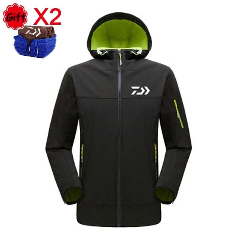 Winter Fishing Clothing Men Women Long Sleeve Fleece Keep Warm Fishing Jacket Outdoor Sports Hooded Waterproof Fishing Coat