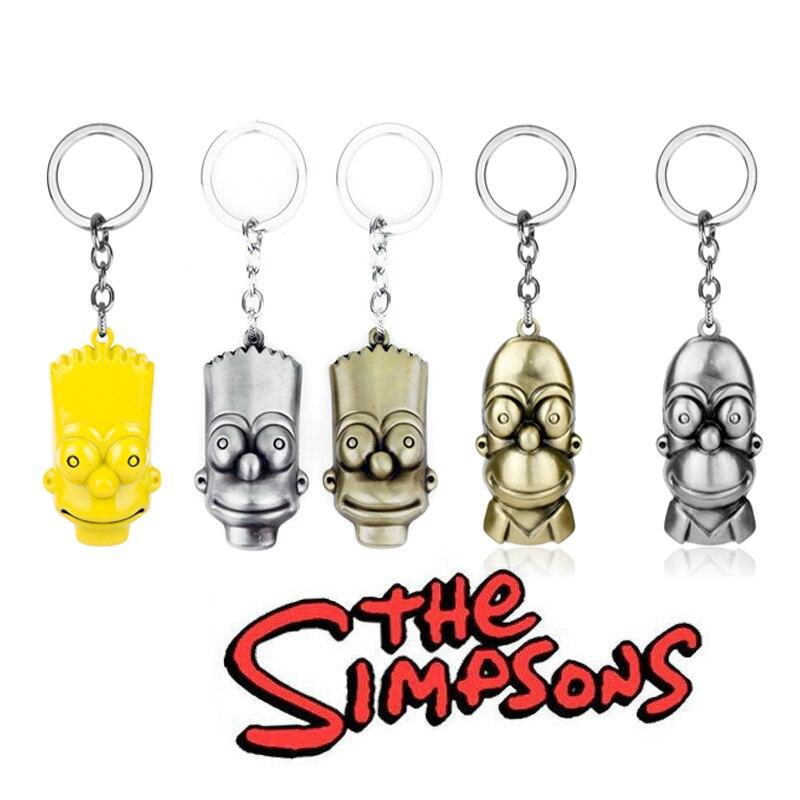 BART SIMPSON KEYCHAIN The Simpsons TV Show 3D Metal Keyring Key Holder Gift