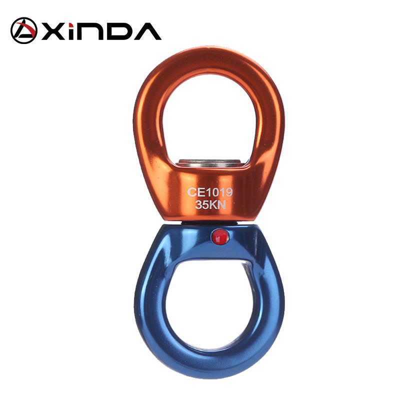 XINDA Professional Outdoor Rock Climbing Universal heel Fixing Device Rotary Connector High Altitude Top Yoga universalring