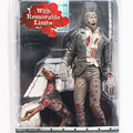 1 unids 18 cm figura de acción Neca Resident Evil Removeable Limbs Zombie juguetes Toy figuras de acción
