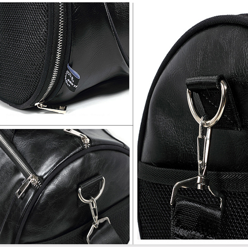 Top PU Outdoor Sports Gym Bag Men Women with Training Storage Shoes - Beg sukan - Foto 5