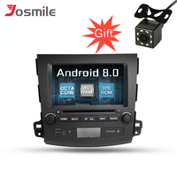 Android 8.0 Car DVD GPS Multimedia Player For MITSUBISHI OUTLANDER 2006 2012 Octa Core Radio With Steering Wheel OBD Wifi IPS