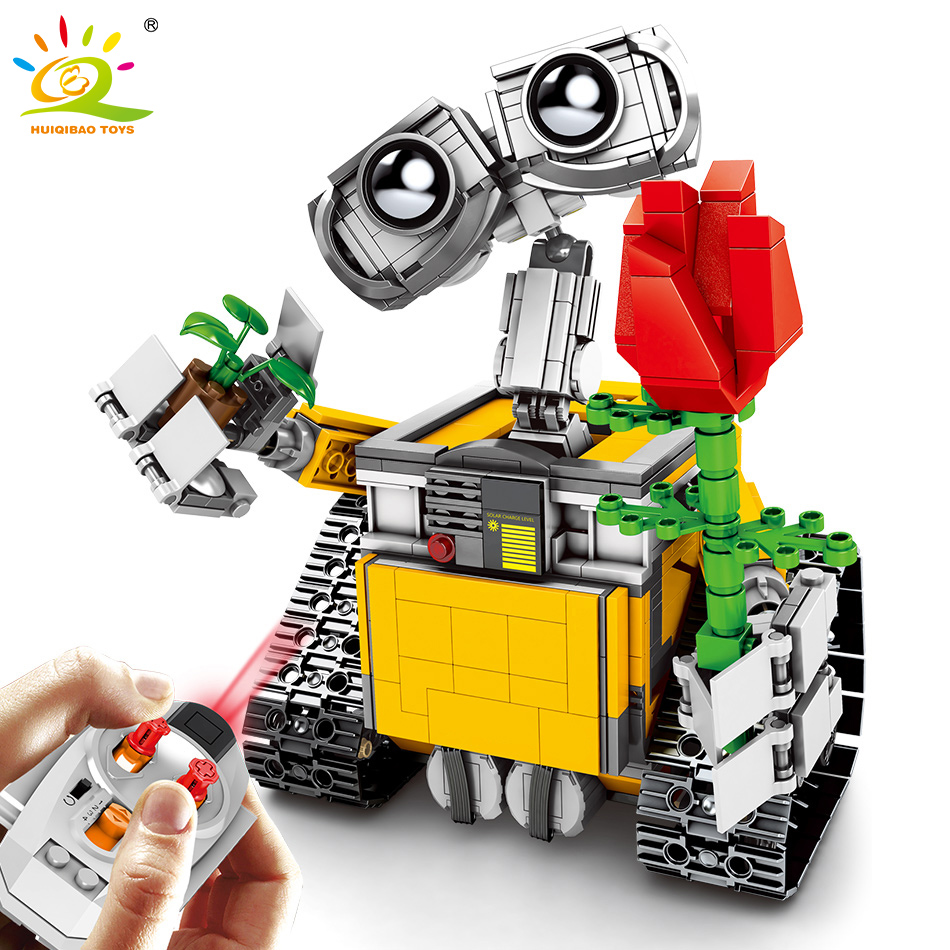 853pcs Remote Control Wall E Robot Building Blocks Legoing Technic Motor Movable Bricks Educational RC Toys