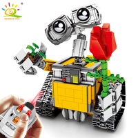 853pcs Remote Control Wall E Robot Building Blocks Compatible Legoed Technic Motor Movable Bricks Educational RC Toys For Kids