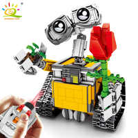 853pcs Remote Control Wall-E Robot Building Blocks Technic Motor Movable Bricks Educational RC Toys For Kids