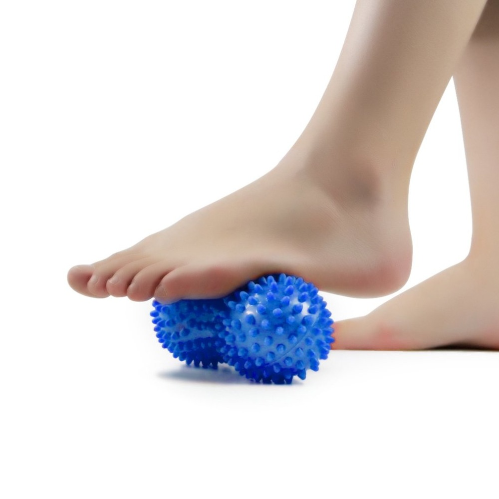Practical Design Spiky  Peanut Shape Massage Ball Body Pain Relief Muscle Stress Therapy Health Care Supplies