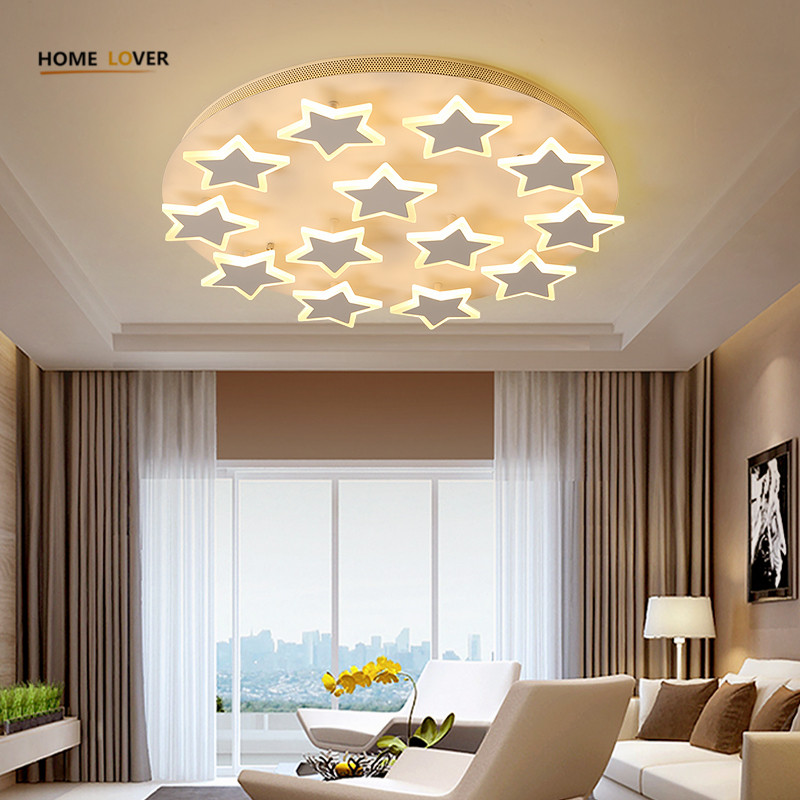 Star ceiling light for Living room Bedroom Kids lamp ...
