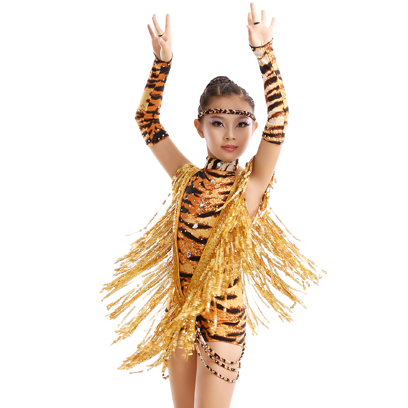 Latin Fringe Dress Sale Latin Dress Roupas Tango Dance Wear Elim Son Lux Tassel Section Of Childrens Skirt Costume Show Fy086