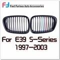 Preto brilhante/Matt Black M-cor Grille Para BMW E39 1997-2003 frente Ampla Grade de Rim 5-Series M5 525 528 530 535 540