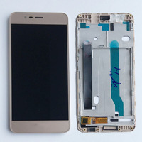 Gold LCD Display Glass Touch Screen Digitizer Assembly Frame For Asus Zenfone 3 Max ZC520TL NEW