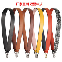 100% genuine Cowhide leather smooth snake leather double sided leather wide shoulder strap replacement repair part top quality