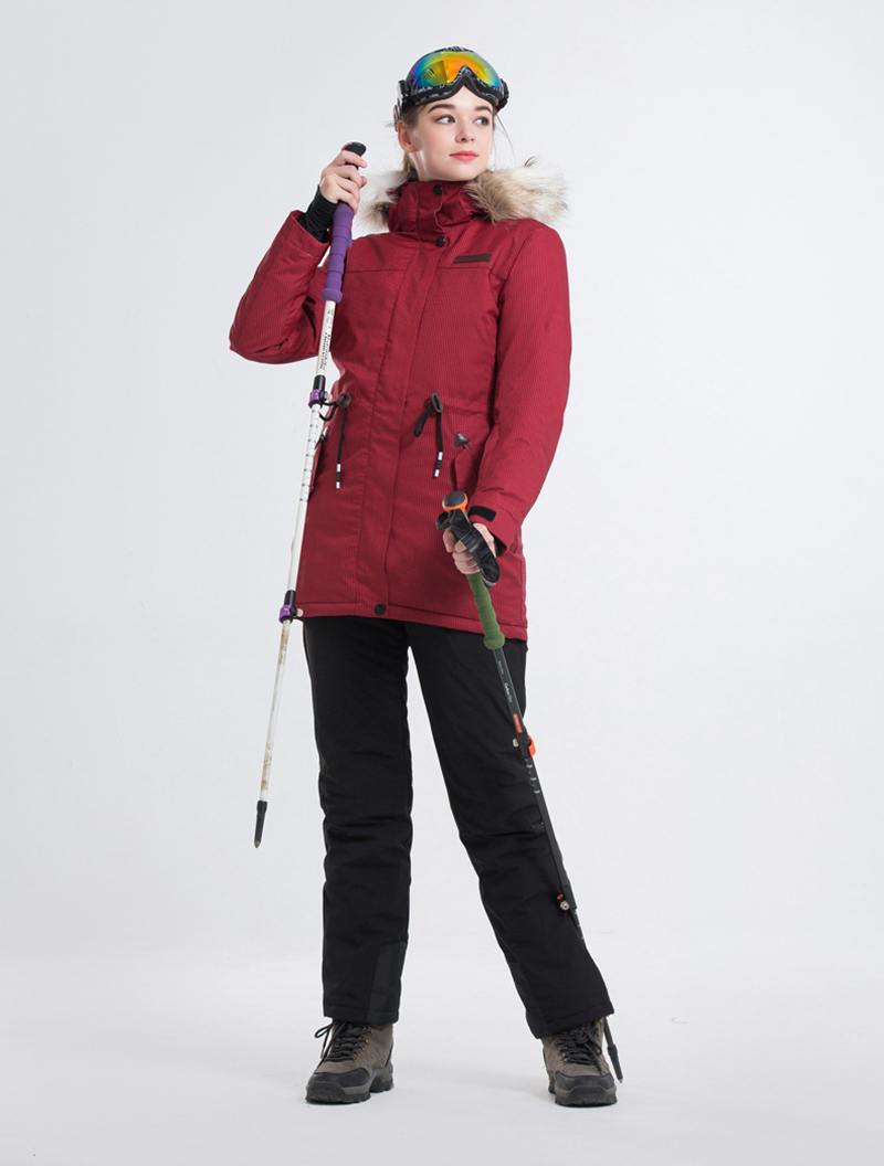 2deaa8b6ef 2018 New Women Ski-wear Skiing Jackets And Pants Snowboard sets Thick Warm  Waterproof Windproof Winter female Ski suit