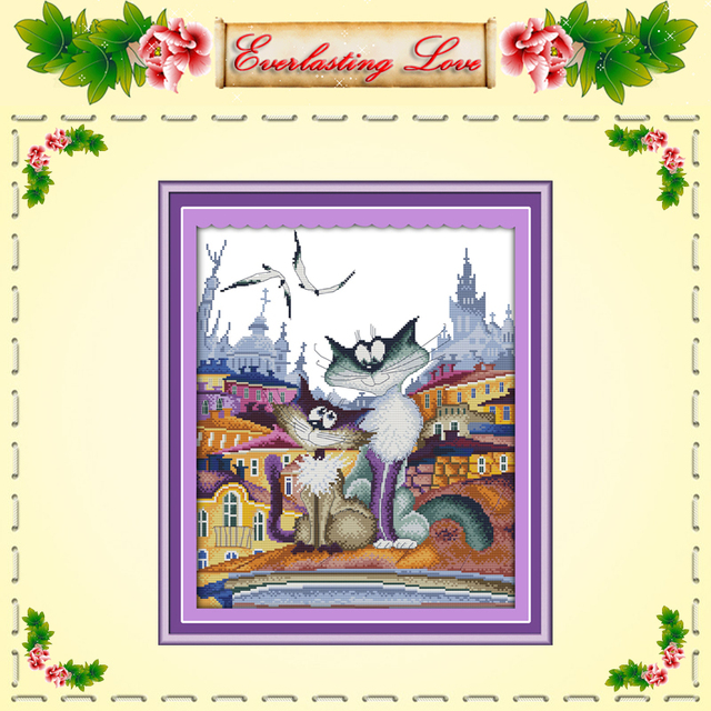 Китайский кот вышивка