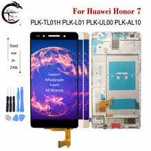 "5.2 ""LCD עם מסגרת עבור Huawei כבוד 7 Honor7 PLK TL01H PLK L01 PLK L01 LCD תצוגת מסך מגע חיישן Digitizer מלא הרכבה"