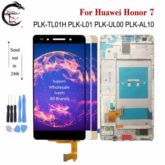"""5.2 """"LCD için çerçeve ile Huawei onur 7 Honor7 PLK TL01H PLK L01 PLK L01 lcd ekran ekran dokunmatik sensör sayısallaştırıcı tam meclisi"""