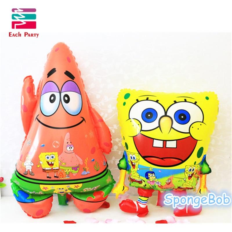 Spongebob Air Balls Inflatable Sponge Bob Foil Balloons  Patrick Star Happy birt