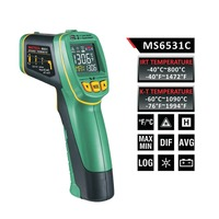 MASTECH MS6531C D:S 12:1 Handheld Digital LCD IR Thermometer Laser Temperature Tester Pyrometer Pyrometer Range 40~800 celsius