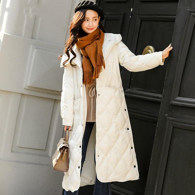 khaki white Ultra Parkas Manteau Blanc Simple Boutonnage Outwear Overknee Fitaylor Hiver Black Veste Slim Femmes De Légère Duvet Canard xYTw6UqZ