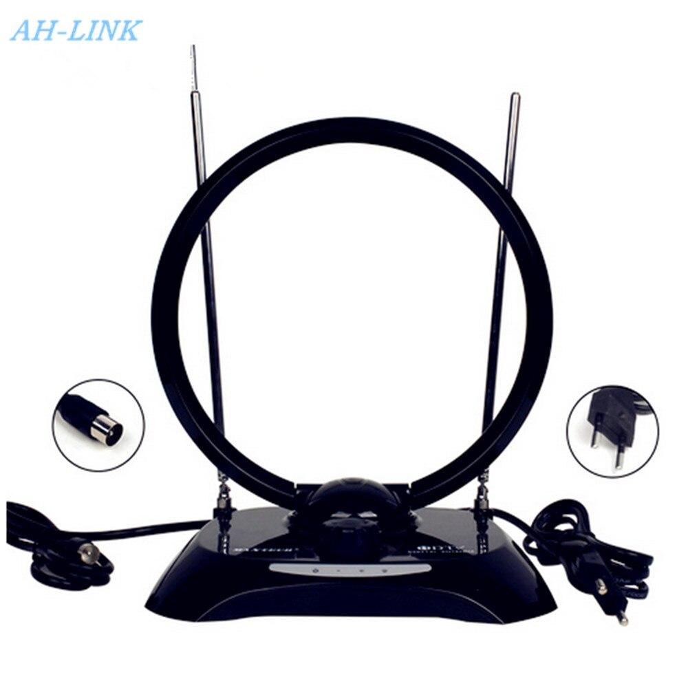 AH-LINK Indoor High Gain HDTV Antenna for Digital Television Magnetic CircularTV Antena Radius Aerial HDTV Booster Radio Antenna