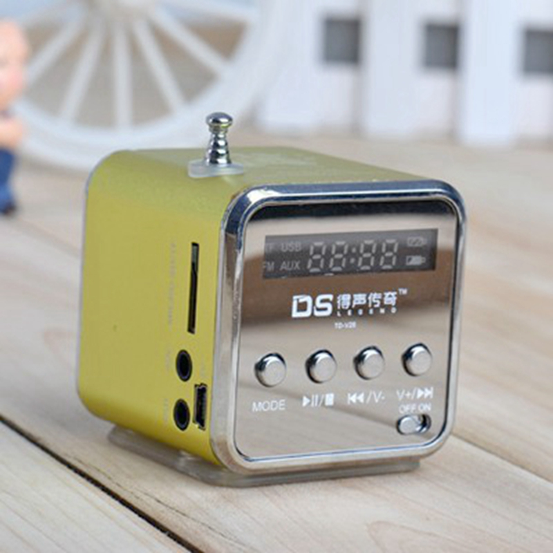 все цены на MLLSE Portable Mini Stereo Super Bass MP3 Speaker SD TF USB FM Radio Music Player TDV26 Inserted UDisk Card Speaker Radio Player онлайн