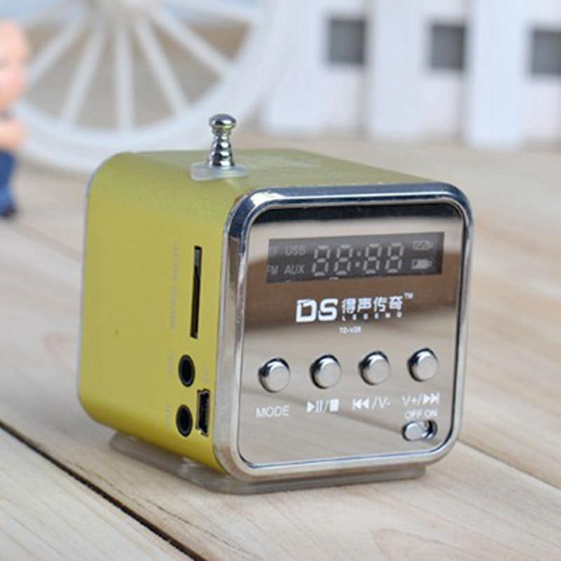MLLSE Portable Mini Stereo Super Bass MP3 Speaker SD TF USB FM Radio Music Player TDV26 Inserted UDisk Card Speaker Radio Player