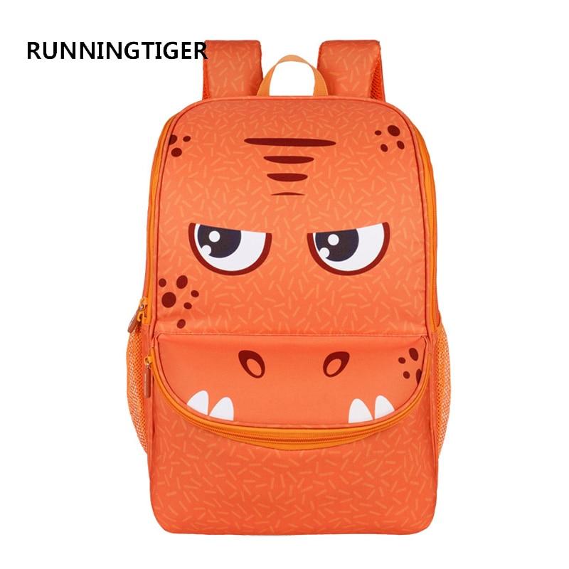 RUNNINGTIGER School Bags for Girls and Boys EVA Material Designed Cartoon Monster Mochila Escolar Fashion Kids Bag