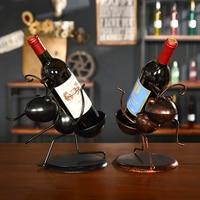 Wine Racks Iron Swing Decorative Wine Frame Creative Bottle Display Stand Wire Crafts Christmas