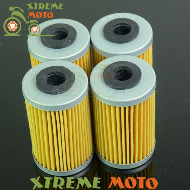 4 * Filtro De Aceite Limpiador Para XC450 XC525 Duque KTM SX MXC EXC SMR XCW XC SMC SXC SXS 125 200 250 400 450 520 525 540 625 660 690