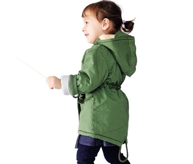 New winter children down & parkas 2-9Y European style boys girls warm outerwear color green blue hooded coats for girls 5