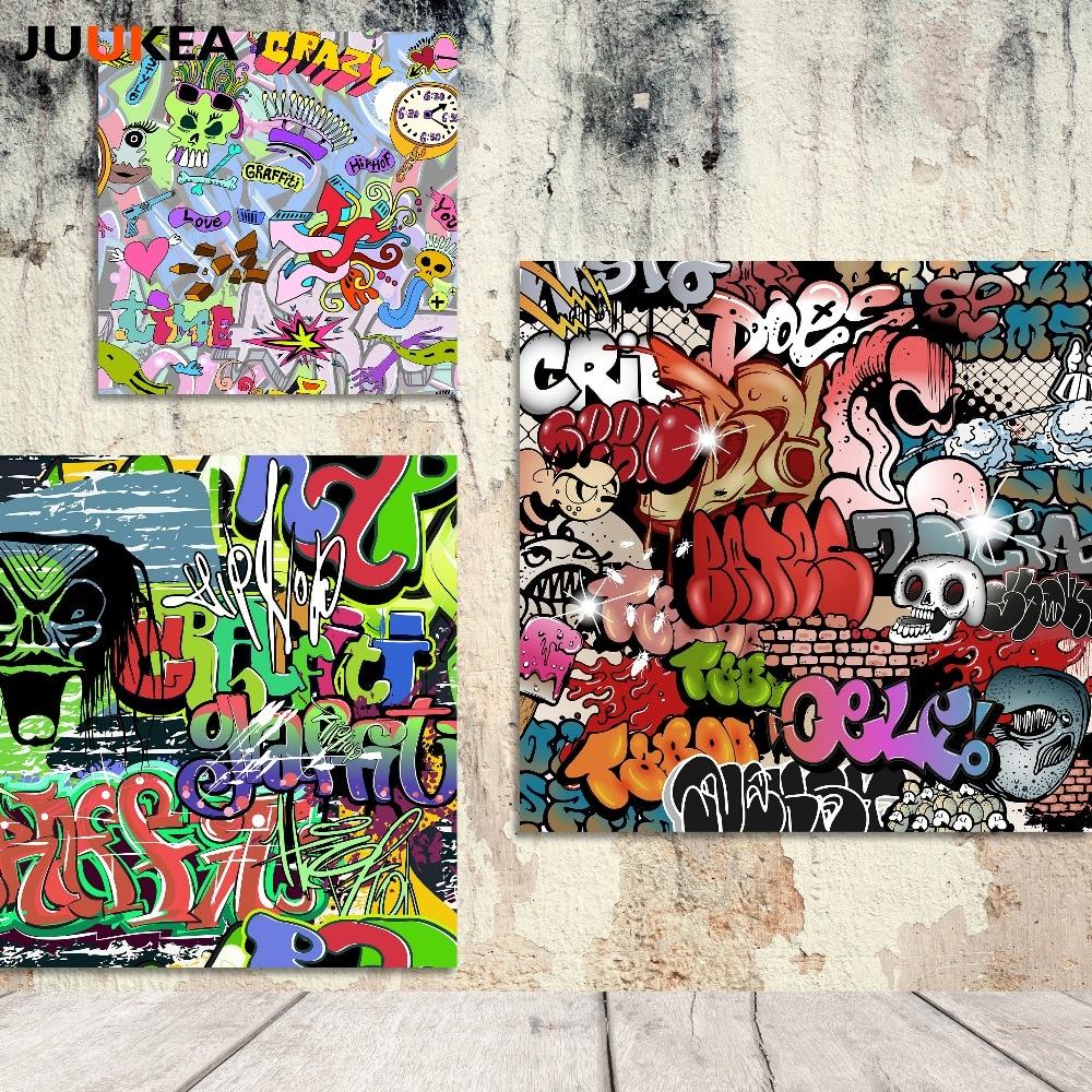 Grafitti art kopen - Moderne Hipster Graffiti Poster Hippies Canvas Art Printing Schilderen Woondecoratie Muur Foto Voor Woonkamer Home
